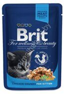 Пресервы Brit Premium Chicken Chunks for Kitten, 100г