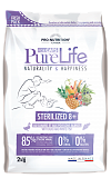 PURE LIFE STERILIZED 8+ WITH DUCK AND WHITE FISH / ПУР ЛАЙФ СТЕРИЛАЙЗД 8+ С УТКОЙ И БЕЛОЙ РЫБОЙ